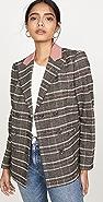 Rebecca Taylor 珠地布格子西装外套