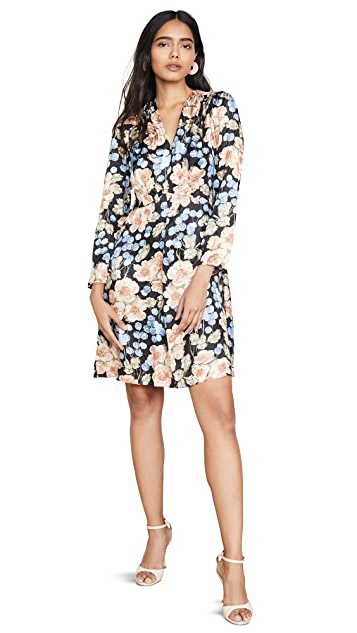 Photo of  Rebecca Taylor Long Sleeve V Neck Dress - shop Rebecca Taylor dresses online sales