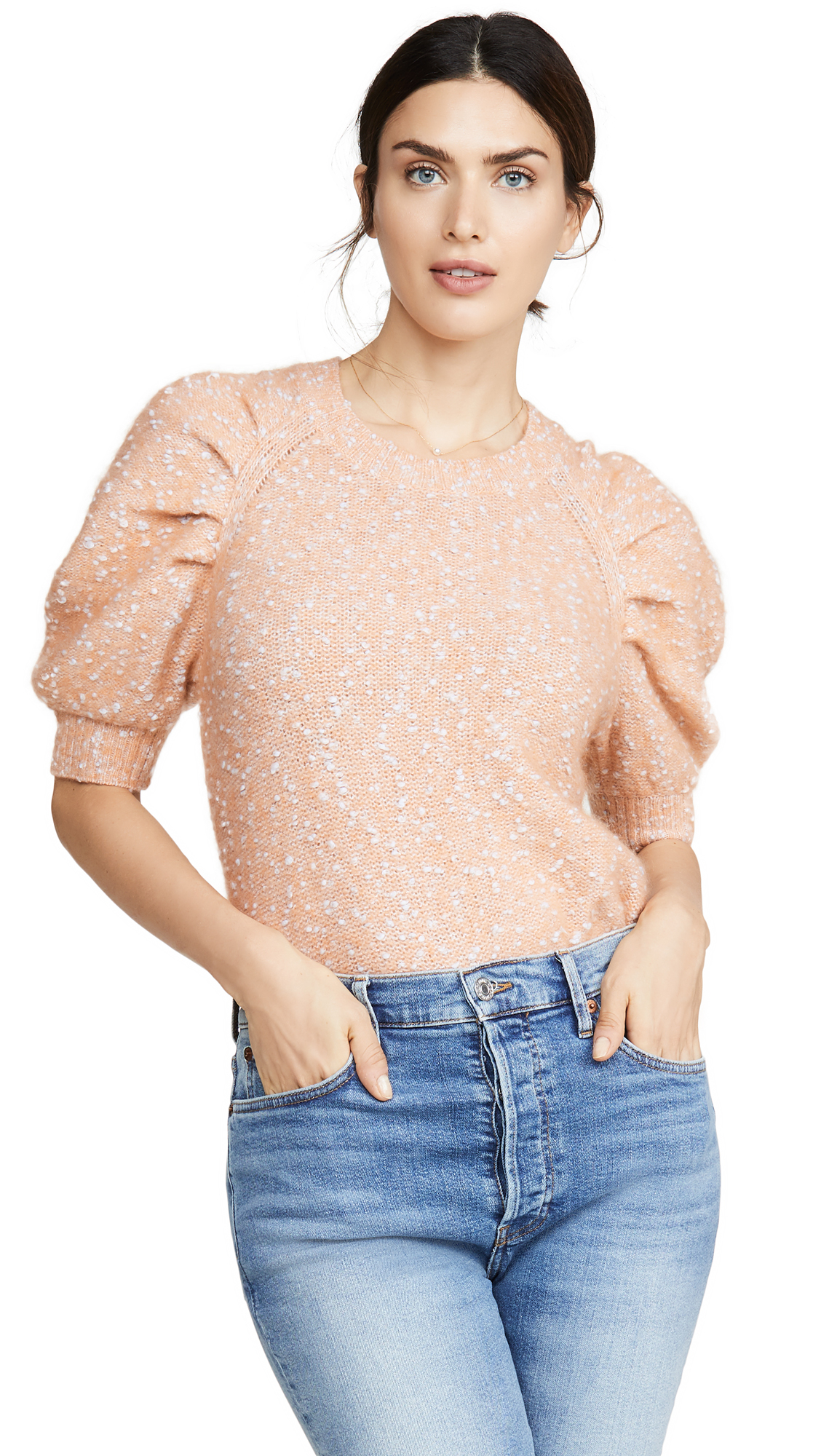 Buy Rebecca Taylor online - photo of Rebecca Taylor Short Sleeve Optic Tweed Pullover
