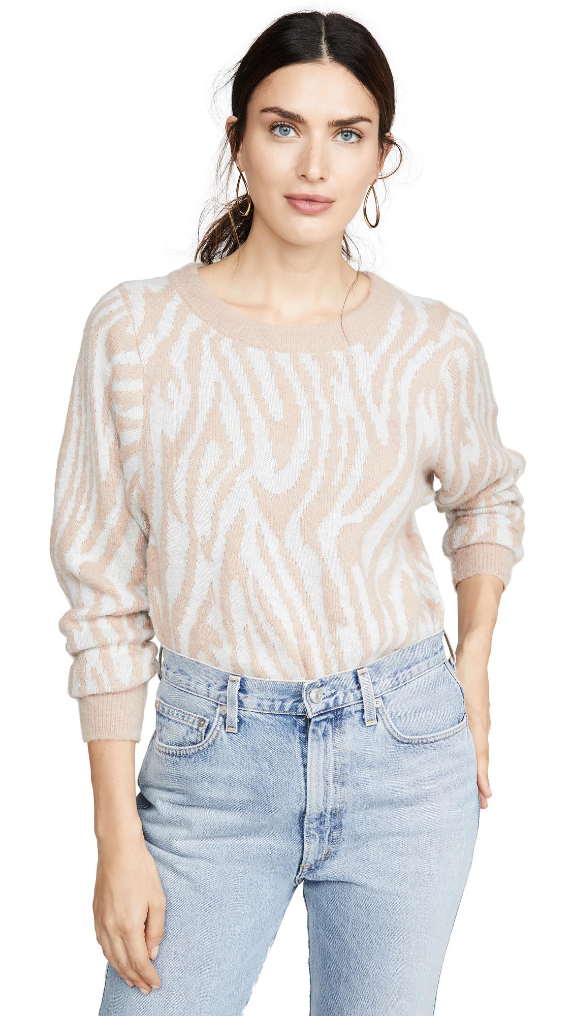 Buy Rebecca Taylor online - photo of Rebecca Taylor Tiger Stripe Pullover