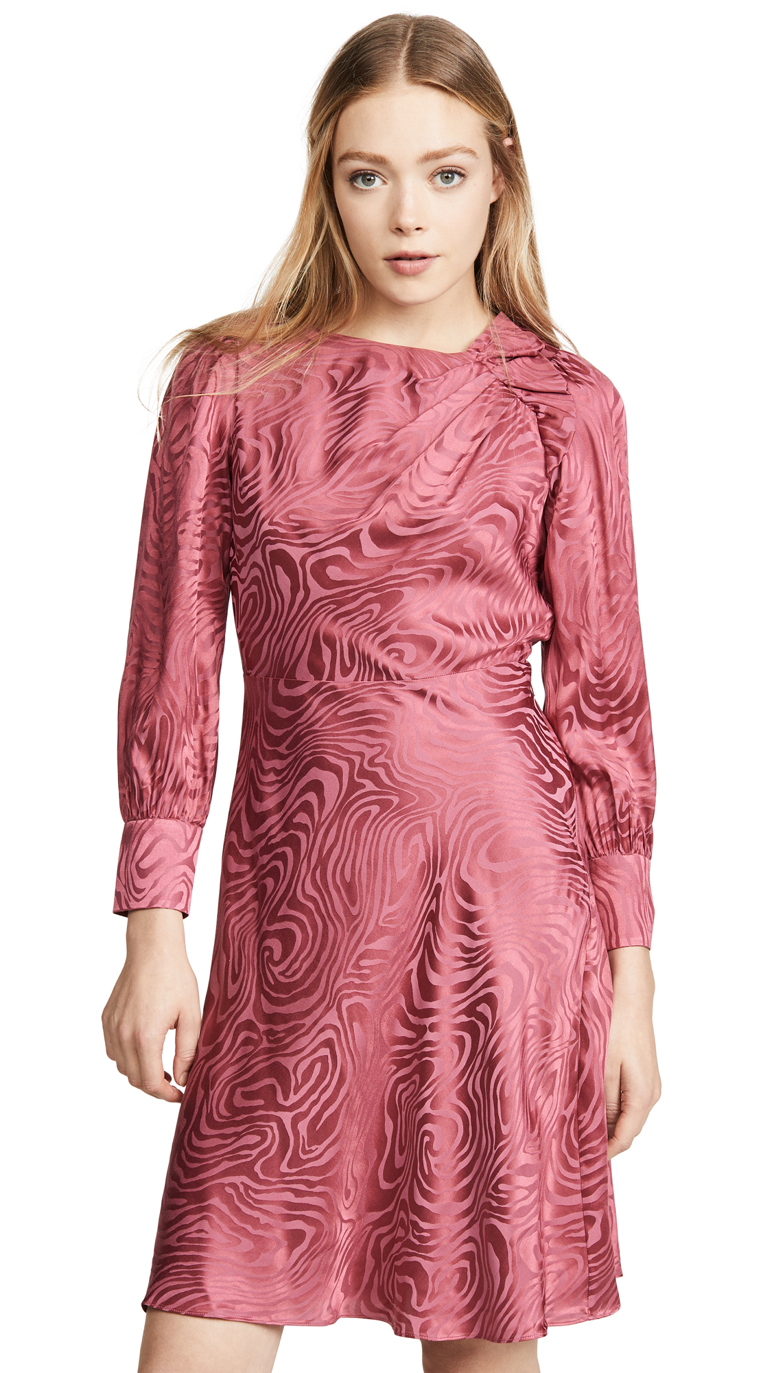 Buy Rebecca Taylor online - photo of Rebecca Taylor Long Sleeve Swirl Jacquard Dress
