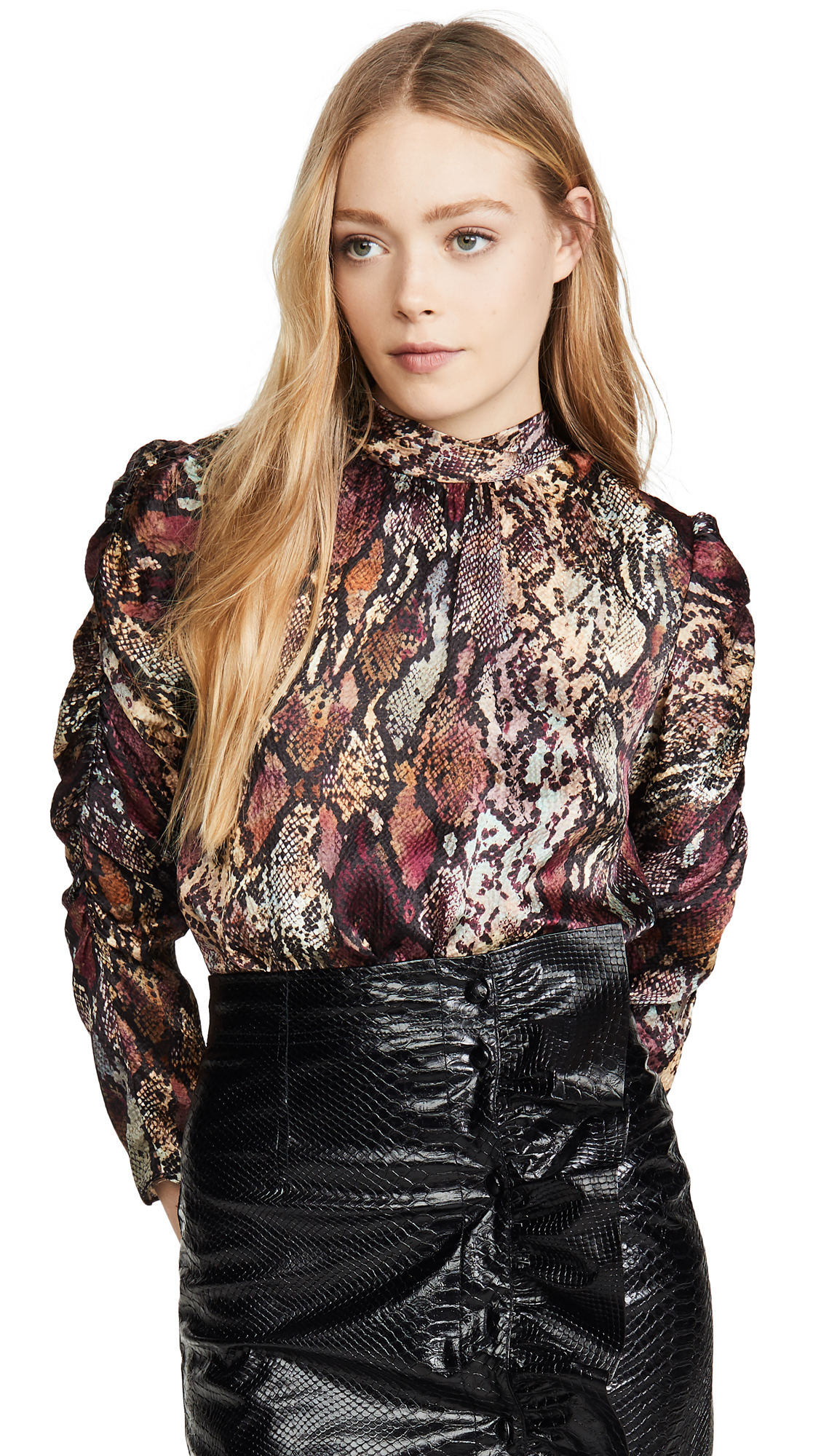 Buy Rebecca Taylor online - photo of Rebecca Taylor Long Sleeve Snake Mock Top