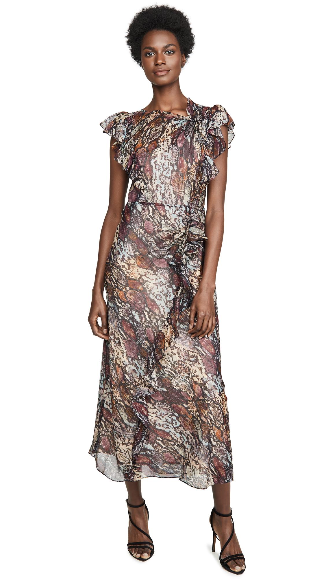 Rebecca Taylor Snake Ruffle Dress - 60% Off Sale