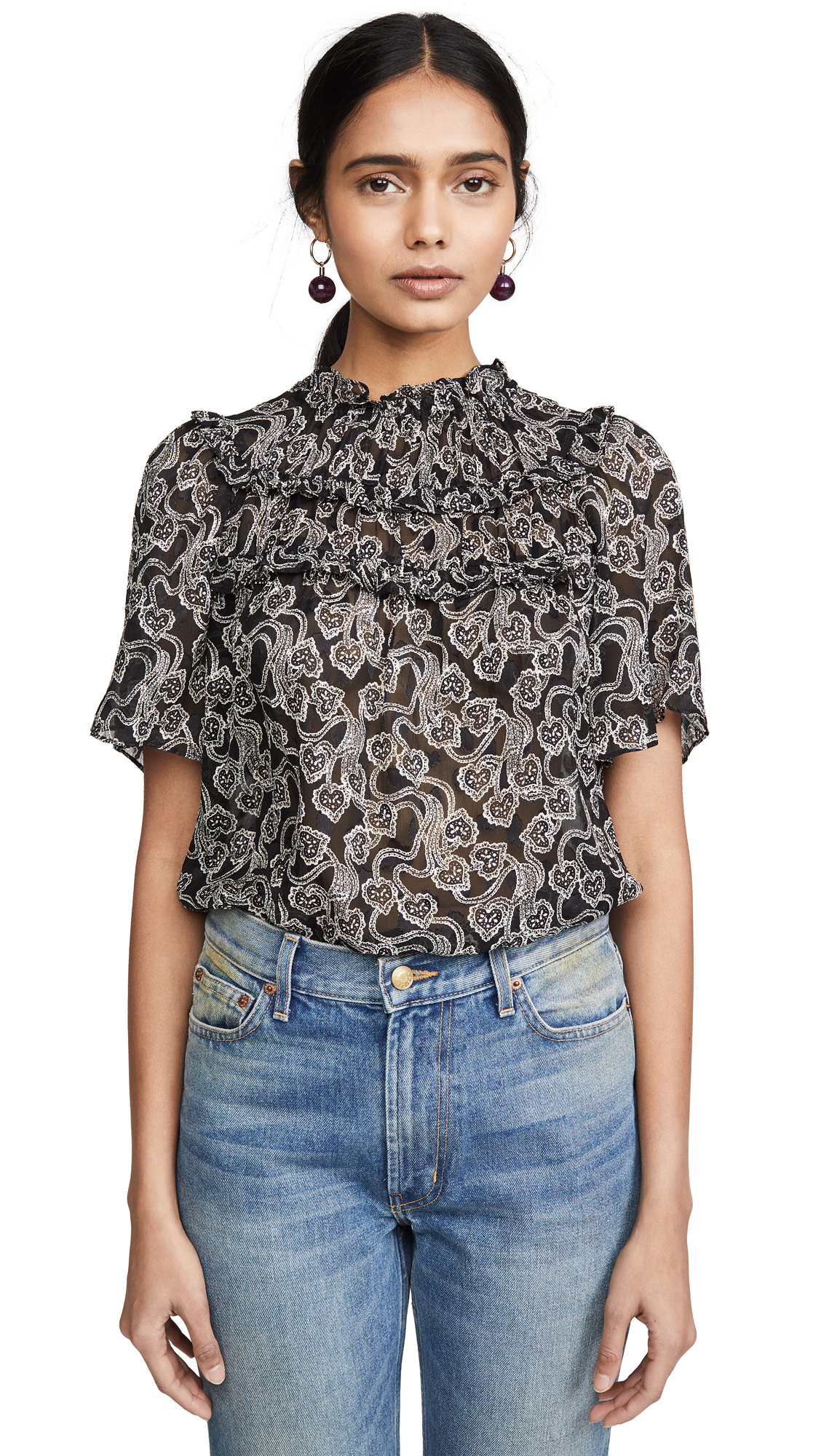 Buy Rebecca Taylor online - photo of Rebecca Taylor Short Sleeve Celia Lace Top