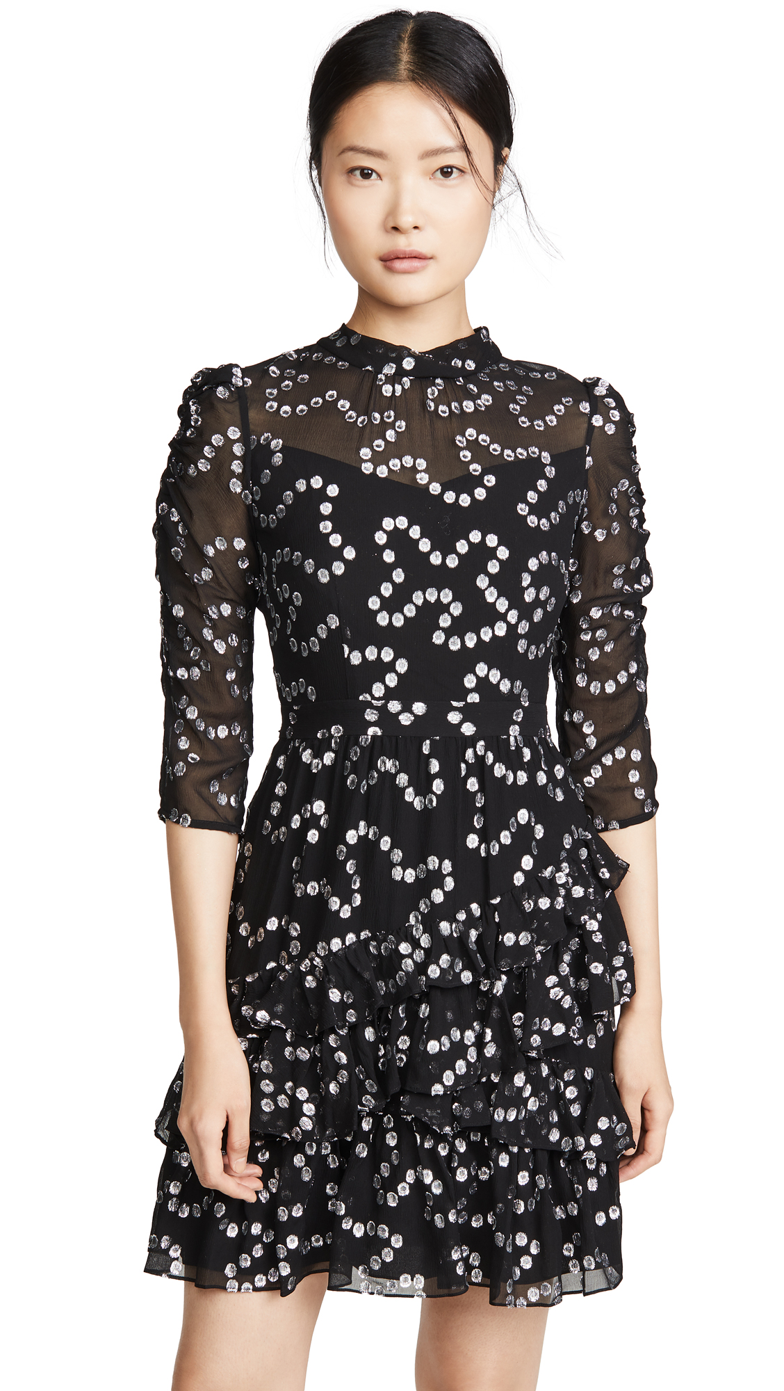 Rebecca Taylor Long Sleeve Met Nuage Dress – 30% Off Sale