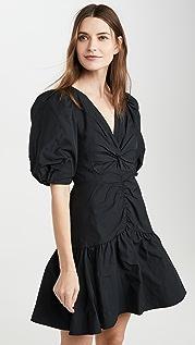 Rebecca Taylor Платье из тафты с короткими рукавами