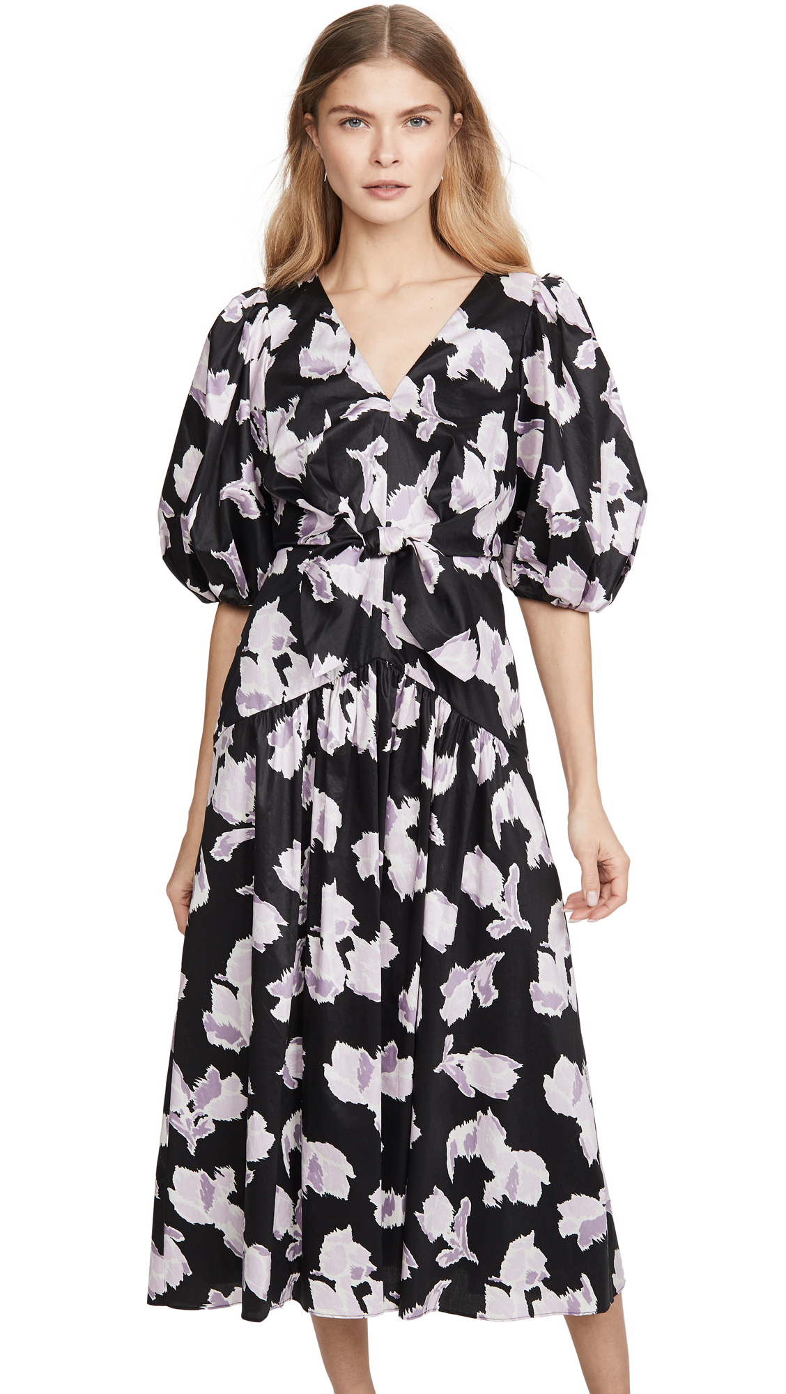 Rebecca Taylor Long Sleeve Ikat Tie Dress - 40% Off Sale