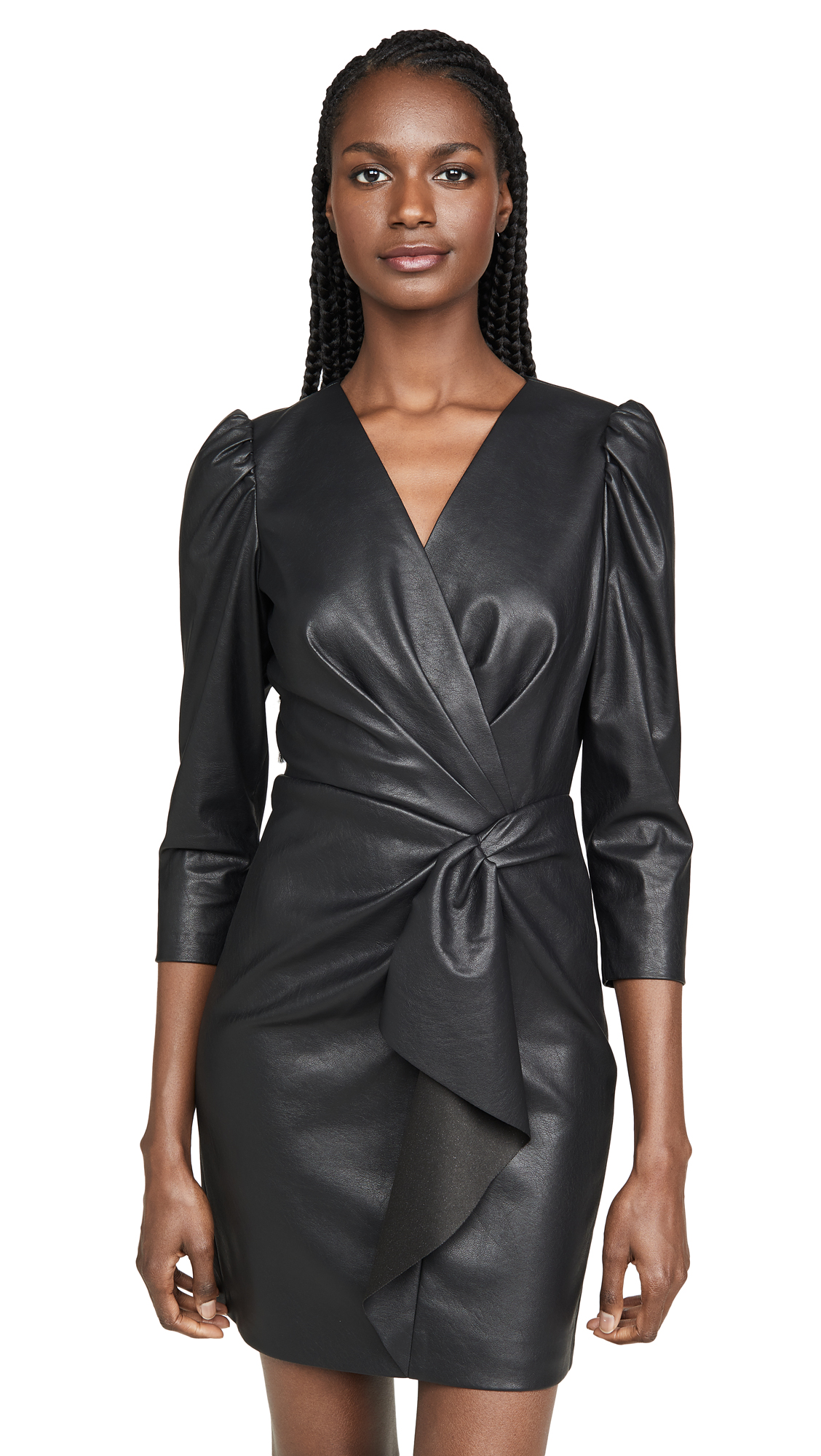 Rebecca Taylor Long Sleeve Vegan Leather Dress - 50% Off Sale