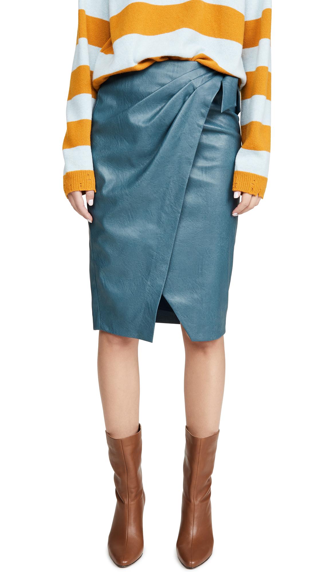 Buy Rebecca Taylor online - photo of Rebecca Taylor Vegan Leather Skirt