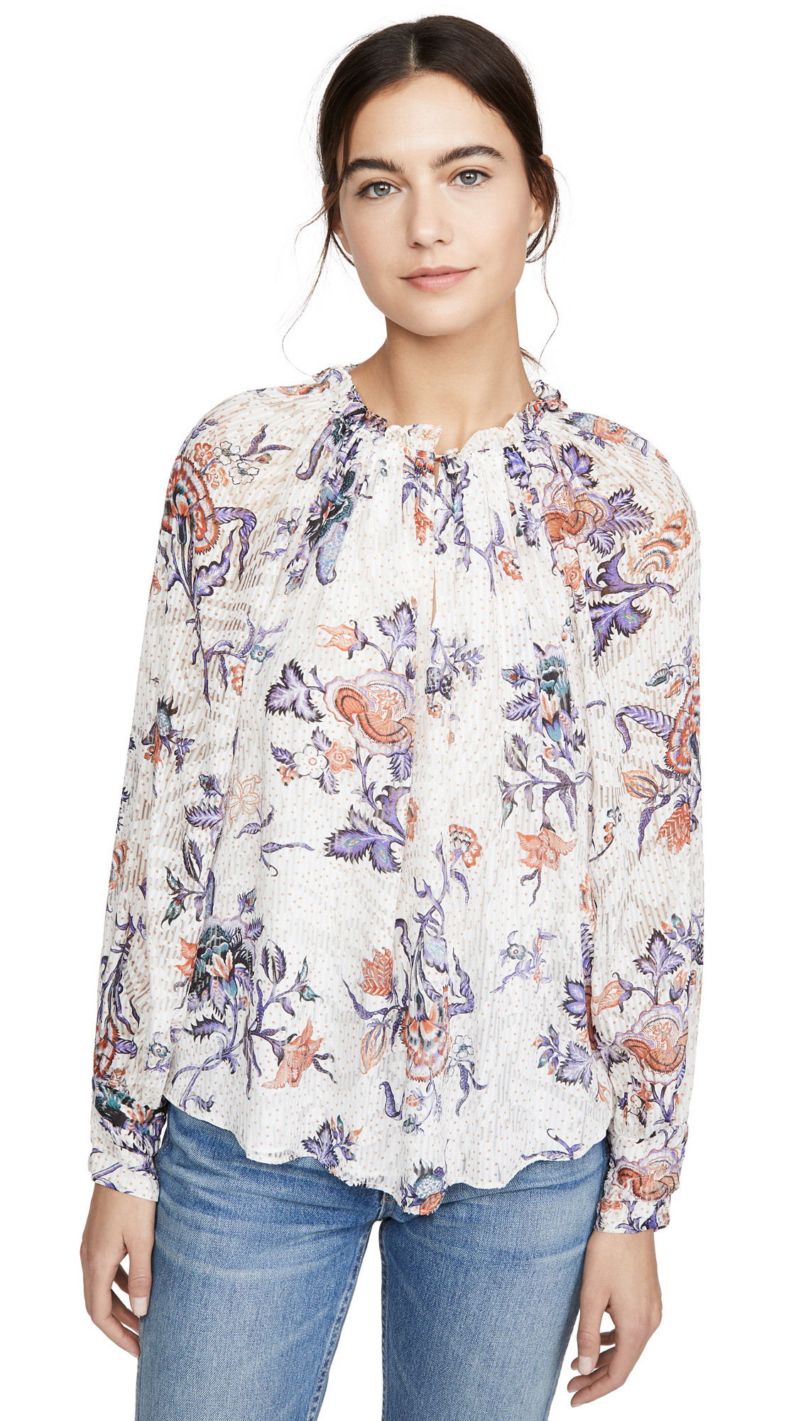 Buy Rebecca Taylor online - photo of Rebecca Taylor Long Sleeve Toile Top