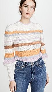 Rebecca Taylor Пушистый пуловер в полоску