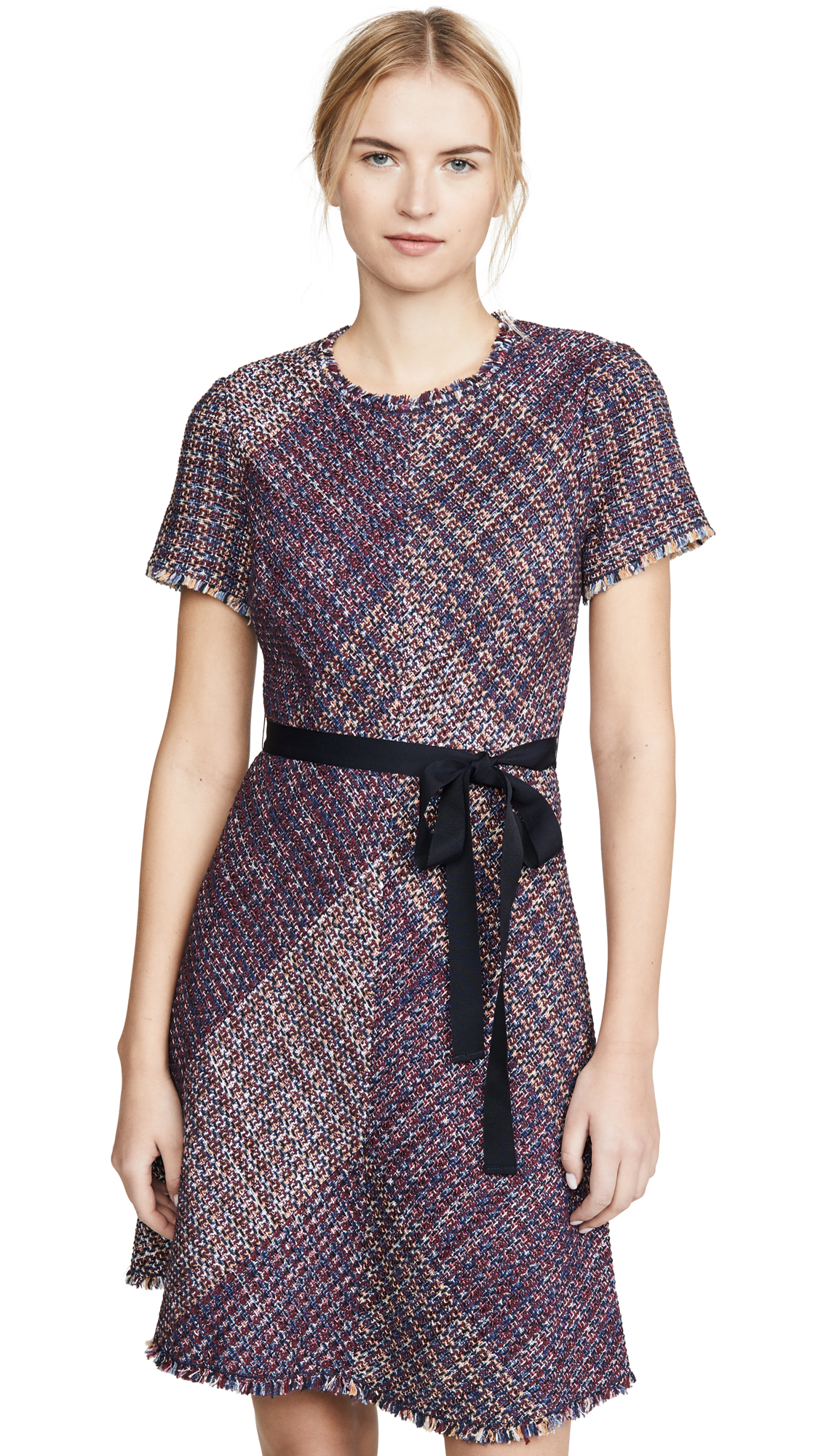 Buy Rebecca Taylor online - photo of Rebecca Taylor Short Sleeve Blanket Tweed Dress