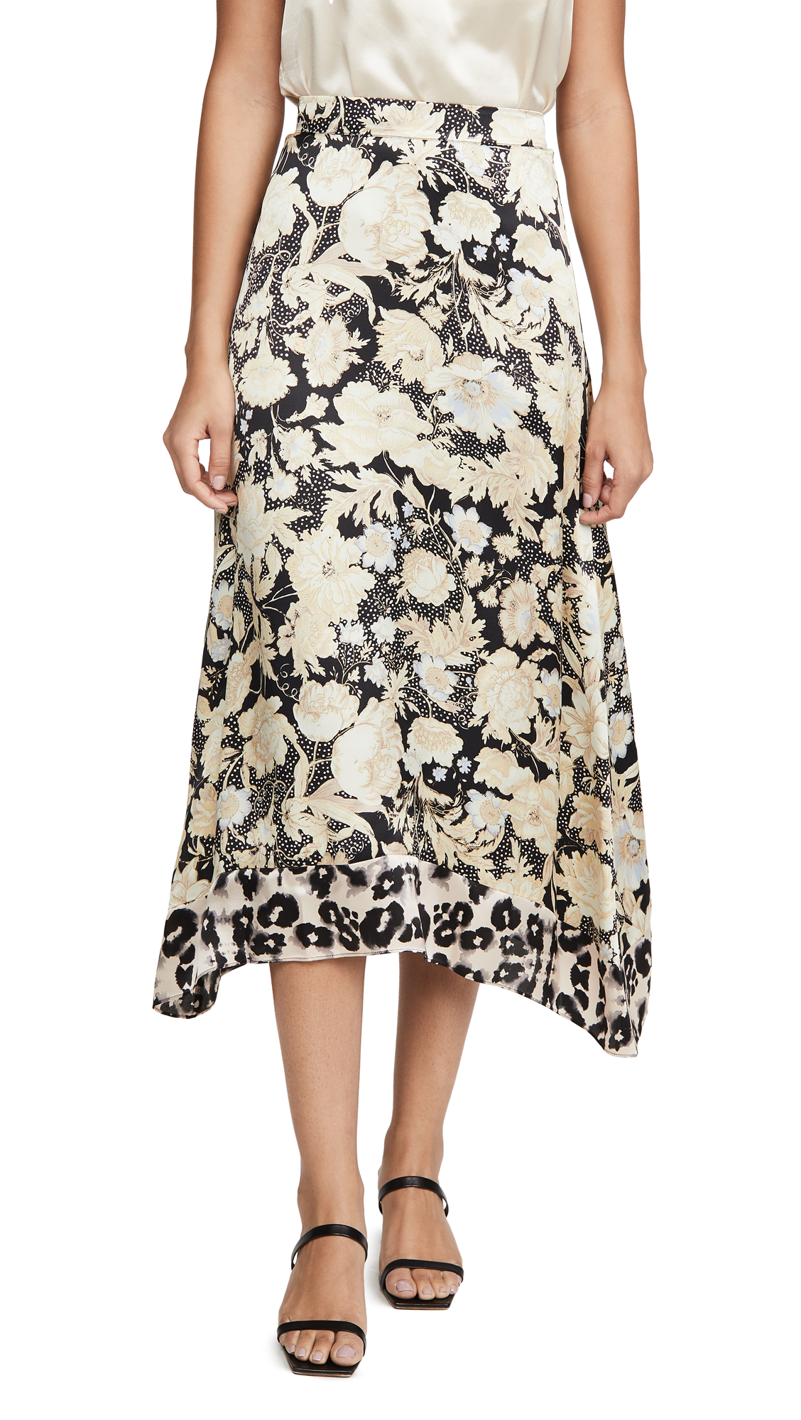 Buy Rebecca Taylor online - photo of Rebecca Taylor Gold Leaf Skirt