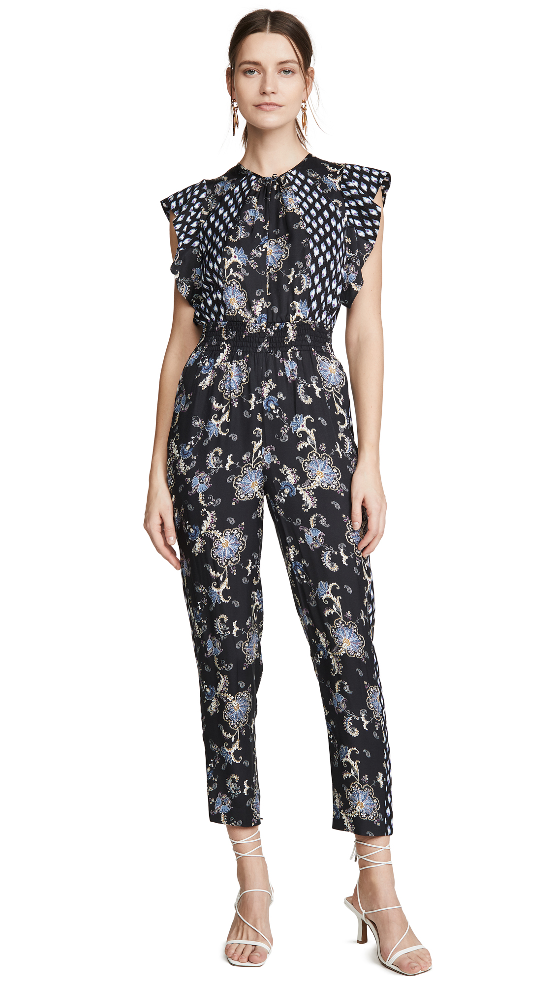 Buy Rebecca Taylor online - photo of Rebecca Taylor Sleeveless Paisley Jumpsuit
