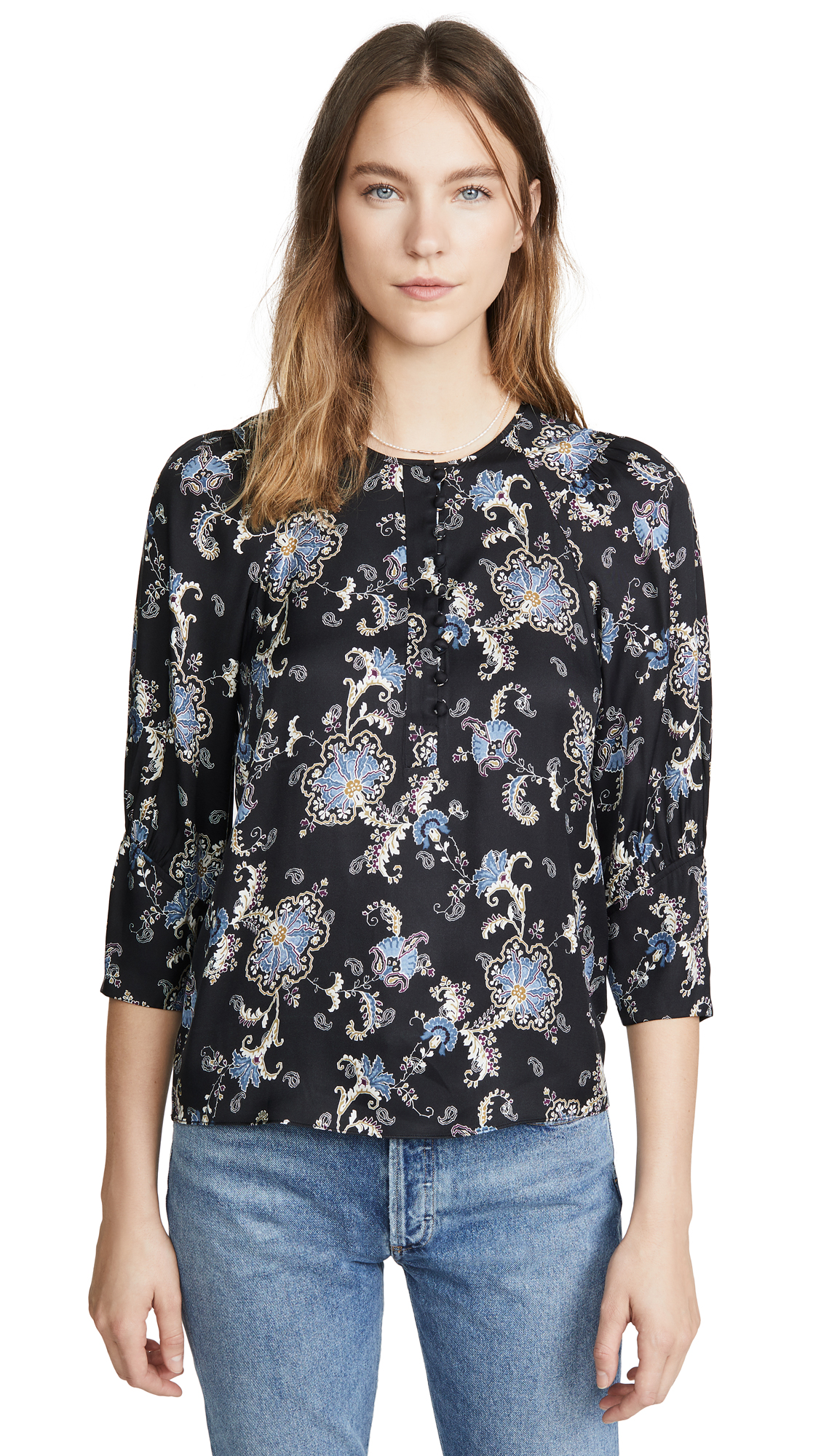 Rebecca Taylor Long Sleeve Paisley Top - 50% Off Sale