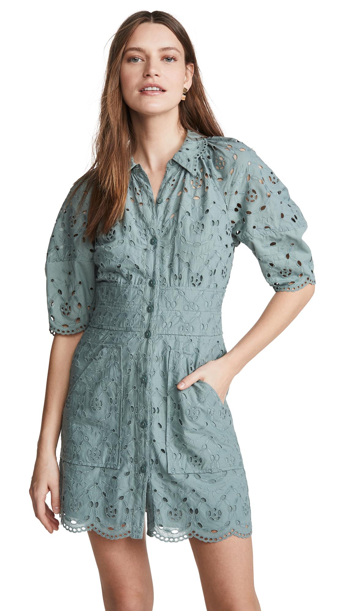 Buy Rebecca Taylor Short Sleeve Mina Eyelet Dress online beautiful Rebecca Taylor Clothing, Dresses