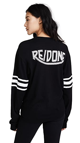 RE/DONE Graphic Long Sleeve Tee In Black