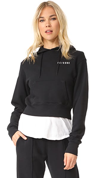 RE/DONE Hard Crop Hoodie