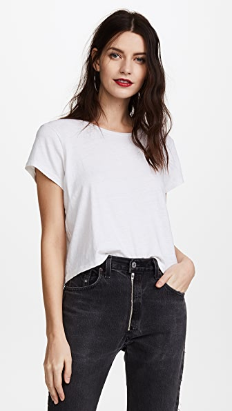 Re/done Cottons X HANES 1950S BOXY CROP TEE