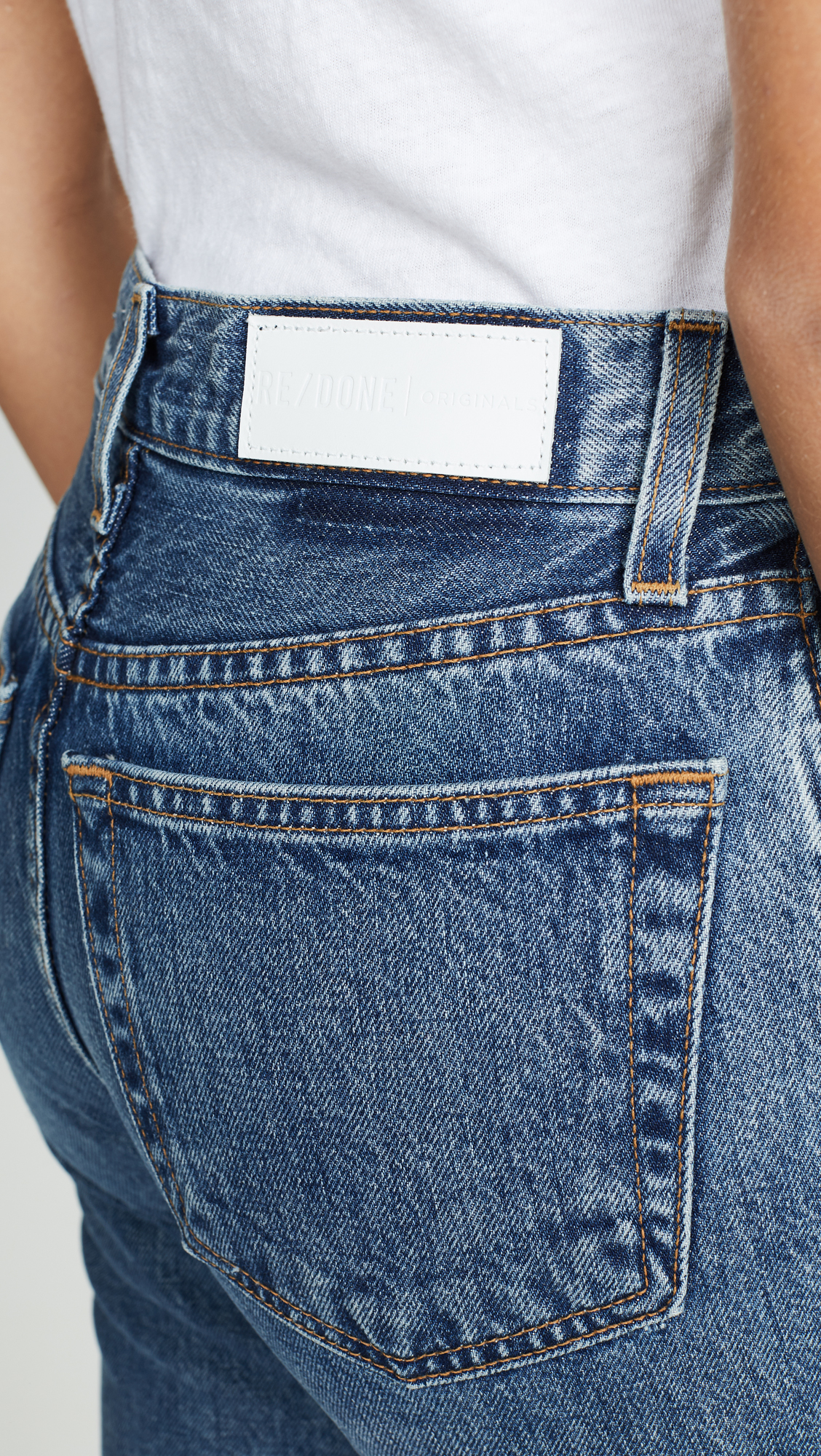 f686b3231073 RE DONE High Rise Rigid Stove Pipe Jeans