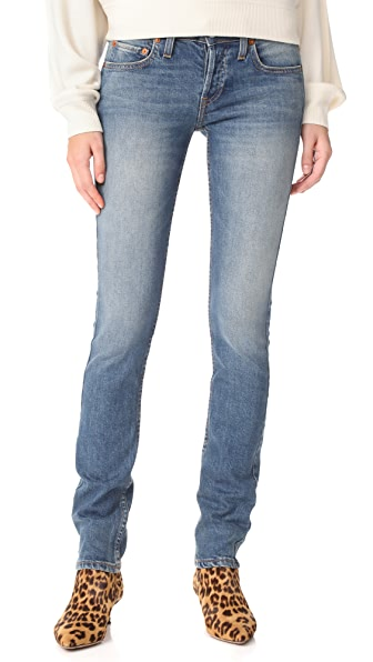 RE/DONE Low Rise Stack Stretch Jeans - Medium Dusty
