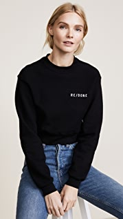 RE/DONE Толстовка-пуловер из ткани изнаночного плетения