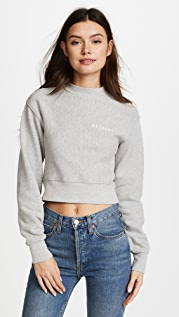 RE/DONE Reverse Weave Pullover Sweatshirt