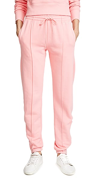 RE/DONE Reverse Weave Sweatpants In Pink