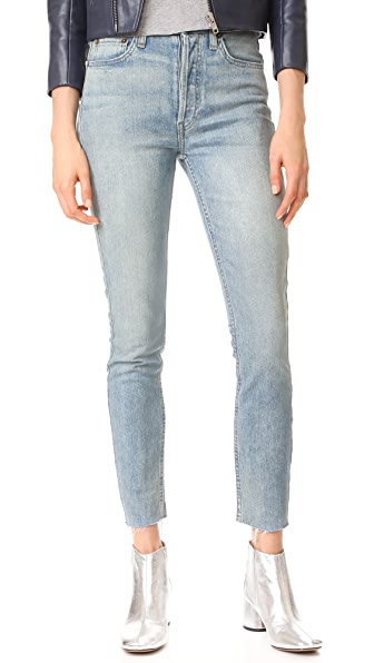 RE/DONE High Rise Ankle Crop Jeans at Shopbop