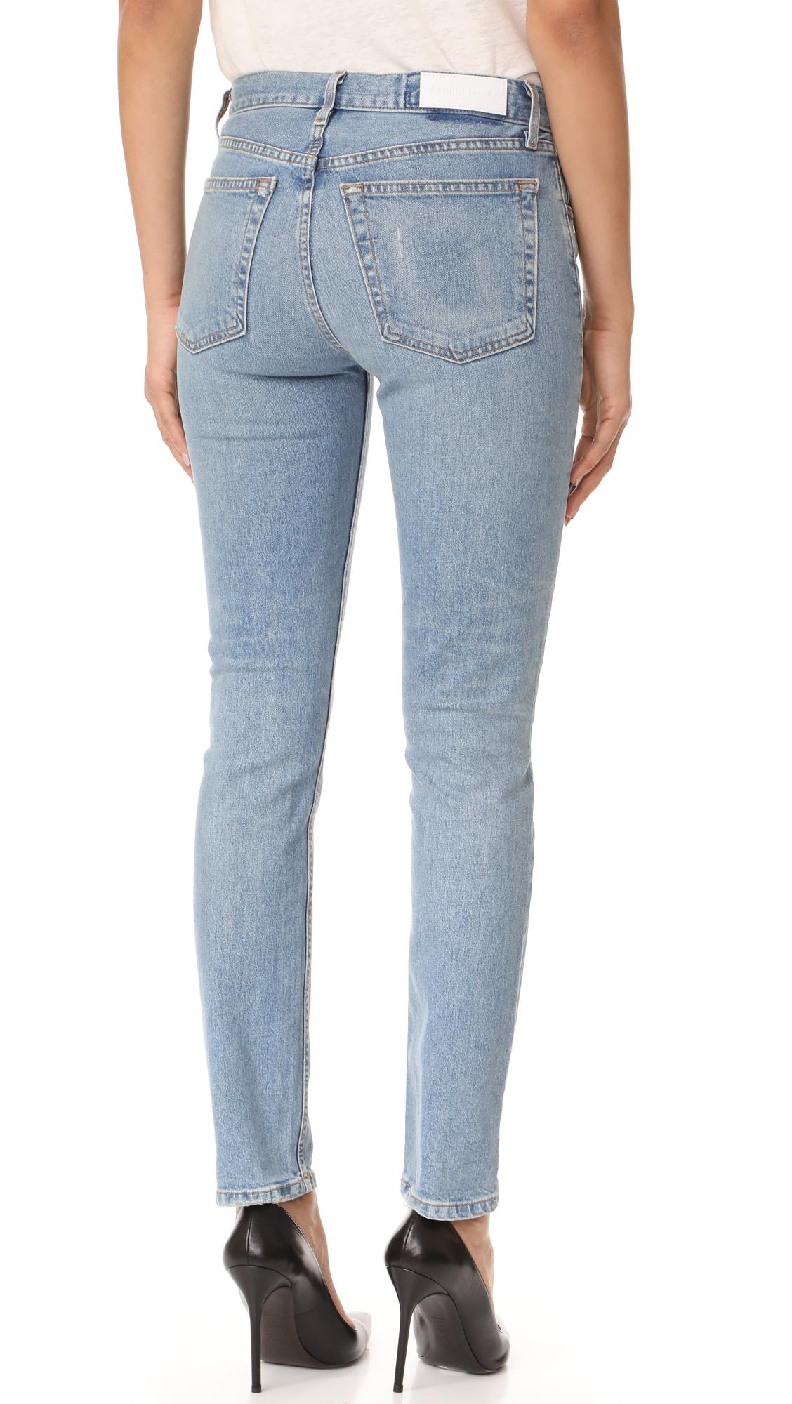 39f4651317d8e RE DONE Originals Stretch Straight Skinny Jeans