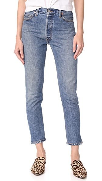 RE/DONE x Levi s High Rise Ankle Crop Jeans - Indigo