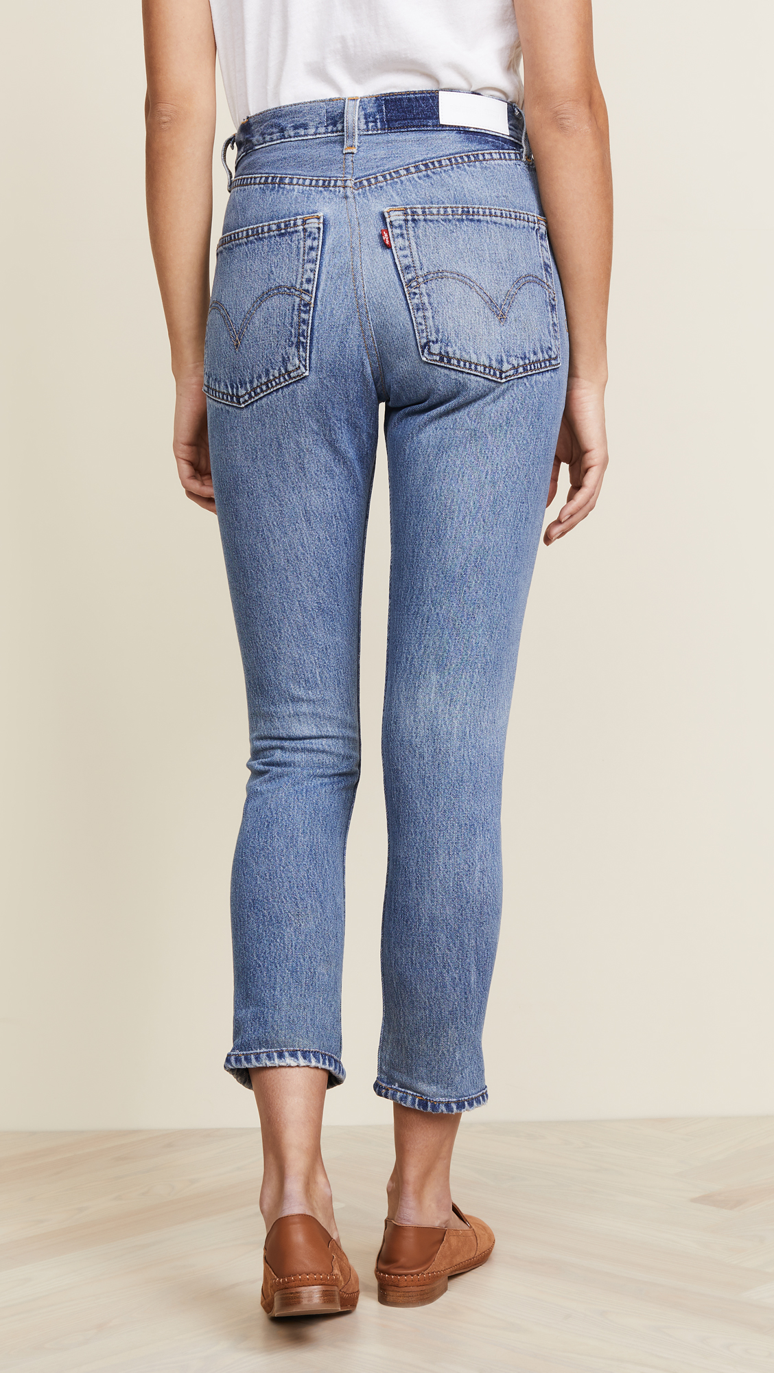 df039d3b9e80a RE DONE x Levi s High Rise Ankle Crop Jeans