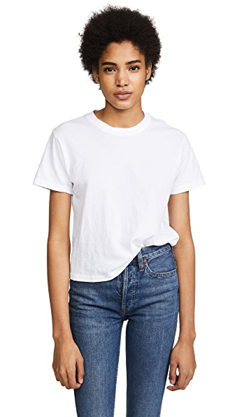 RE/DONE x Hanes Real Tee In Optic White