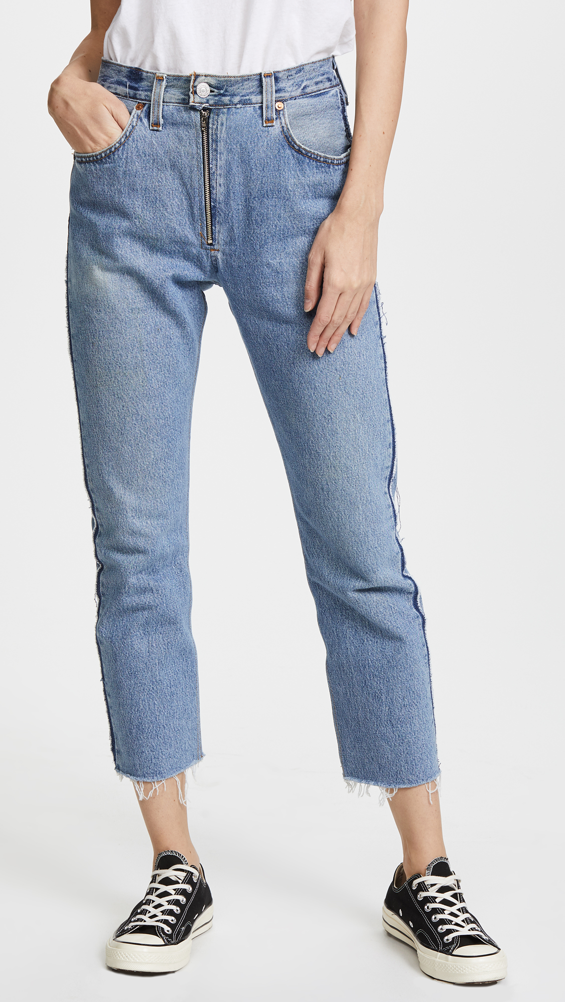 Visible Zip Jeans Re/Done iTK134
