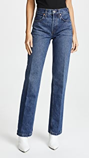 RE/DONE Расклешенные джинсы среднего размера с высокой посадкой