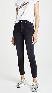 RE/DONE Укороченные джинсы до щиколоток с высокой талией