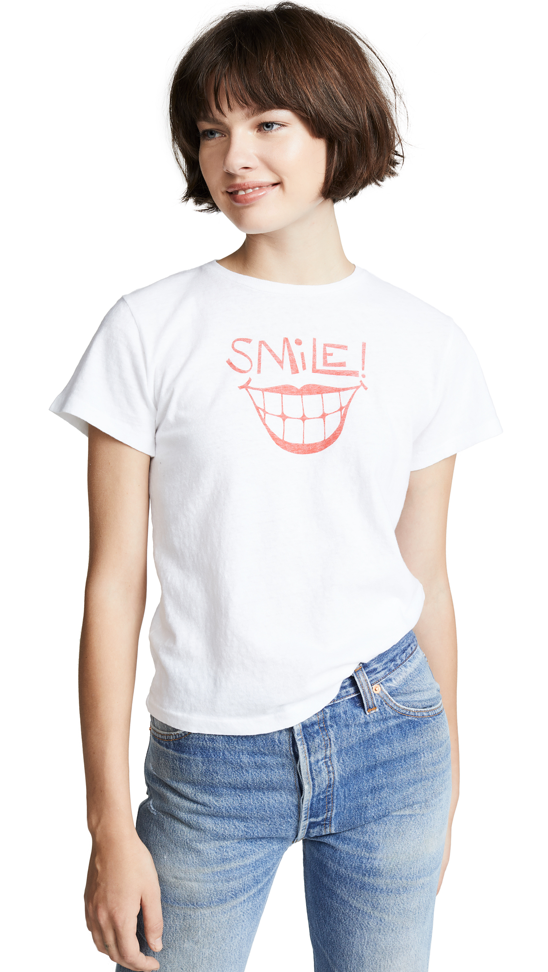 Buy RE/DONE online - photo of RE/DONE Smile Classic Tee