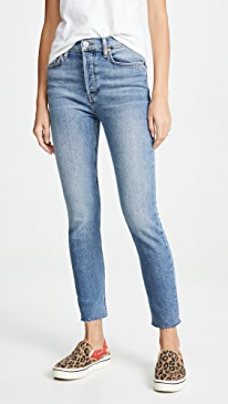 459bddde728 RE DONE. High Rise Ankle Jeans