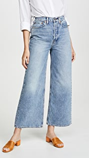 RE/DONE 60's Ultra High Rise Super Wide Leg Jeans