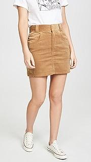 RE/DONE 90 年代复古风格超高腰西部风情口袋半身裙