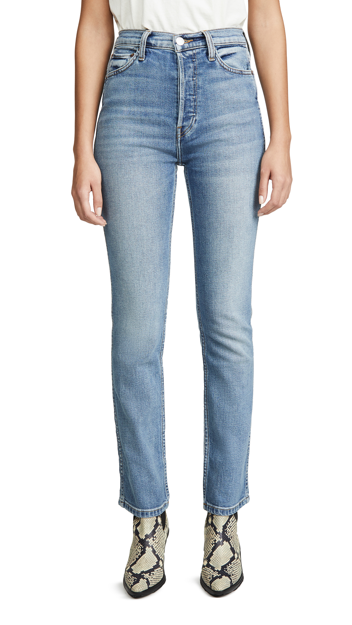 Buy RE/DONE online - photo of RE/DONE Double Needle Long Jeans
