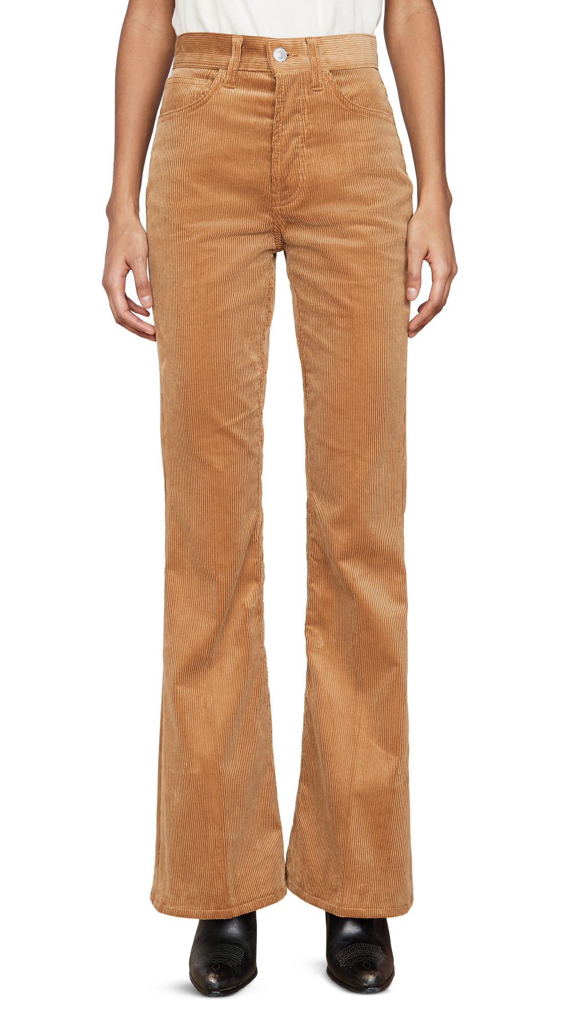 Buy RE/DONE online - photo of RE/DONE 70s Ultra High Rise Bell Bottoms