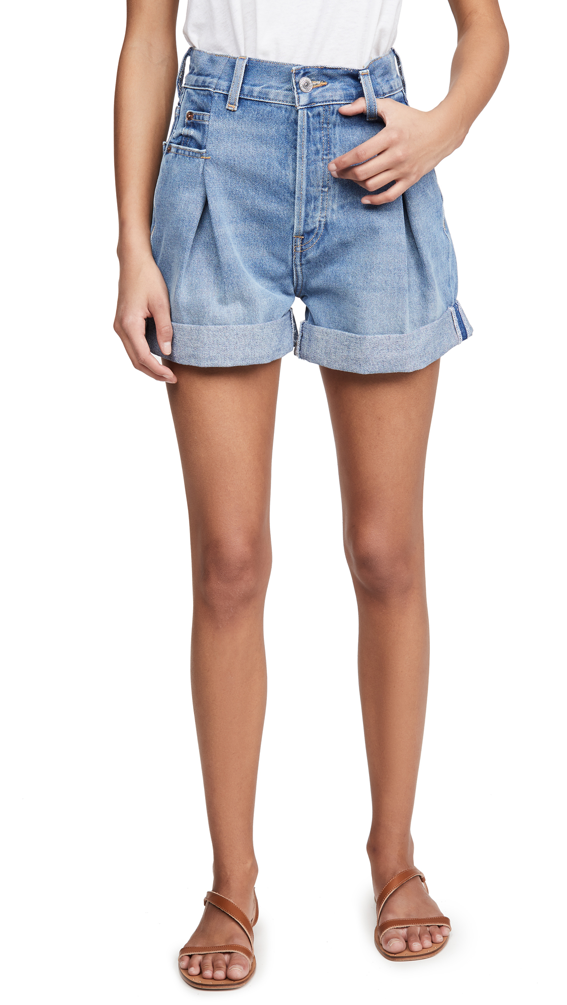Buy RE/DONE online - photo of RE/DONE 40s Zoot Shorts