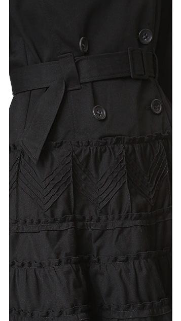 RED Valentino Ruffle Trench Coat
