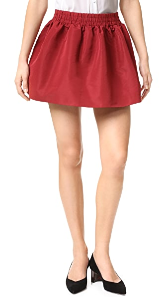 RED Valentino Pleated Miniskirt