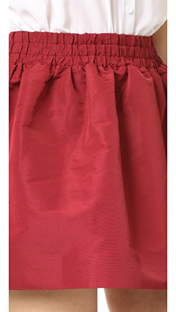 RED Valentino Pleated Miniskirt