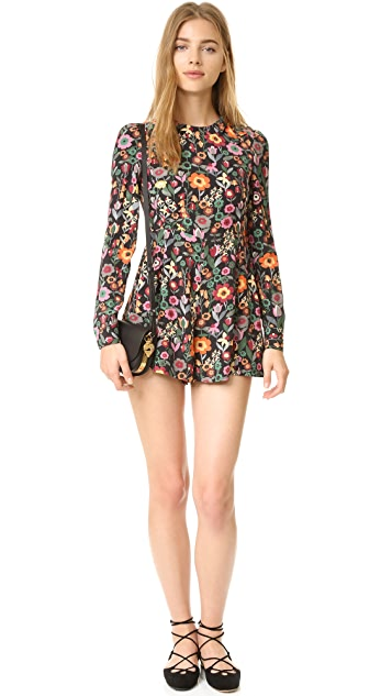 RED Valentino Pleated Bow Romper