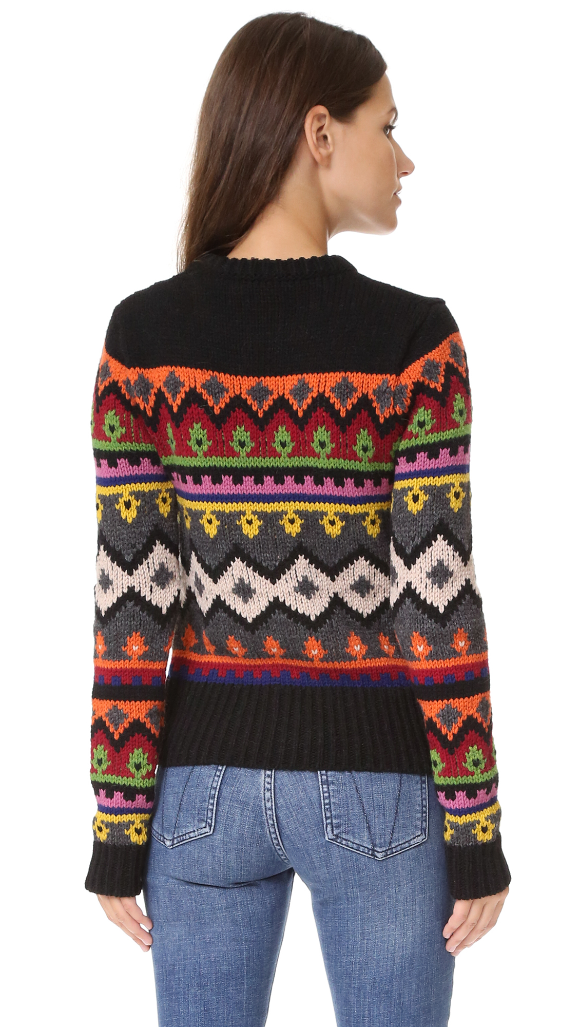 RED Valentino Fair Isle Sweater | SHOPBOP