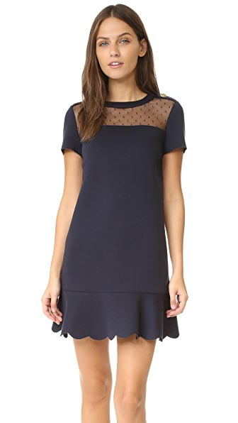 RED Valentino Short Sleeve Scuba Dress
