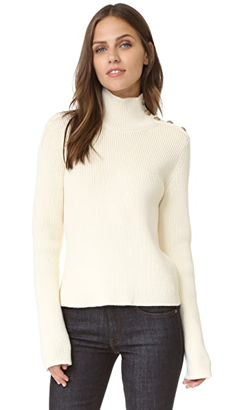 RED Valentino Turtleneck Sweater with Buttons